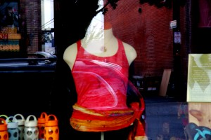 yoga pose burnout racerback tank top on a manikin lulu's boutique