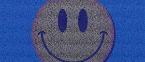 Smile icon made of quotes about smiling