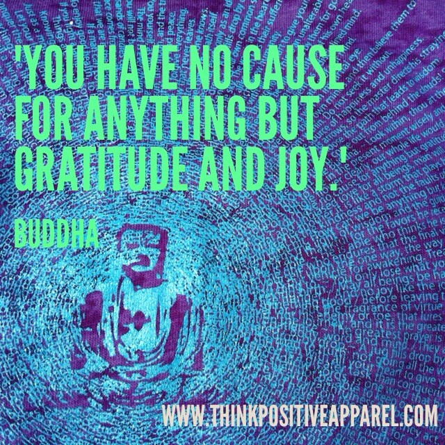 Buddha quote on Gratitude and Joy