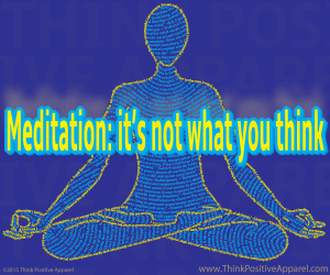 Full Lotus Pose Design with Meditation Joke