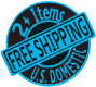 Free shipping on two or more item purchase