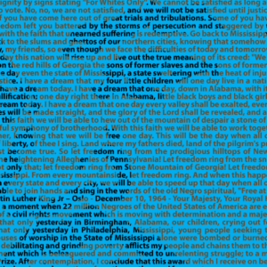 a section of our MLK Jr image made of his own words.