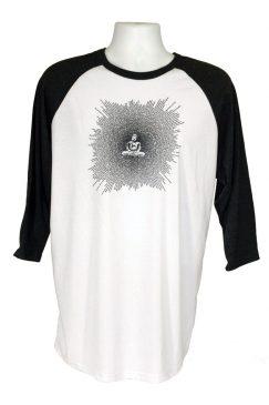 buddha-Unisex_jersey_3_4_sleeve_baseball_tee-white_black-1-Think_Positive_Apparel.jpg