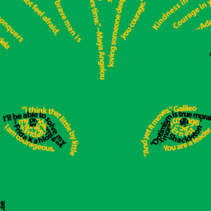 a closer look at the Lion of Courage design by Think Positive Apparel