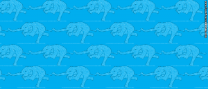 A pattern of elephants doing warrior III pose.