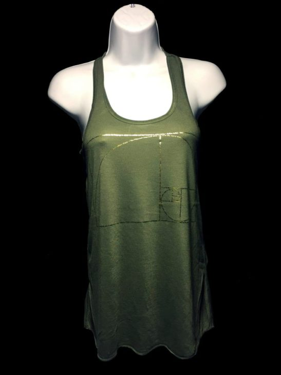Featured image for our golden ratio design on a women's tank top