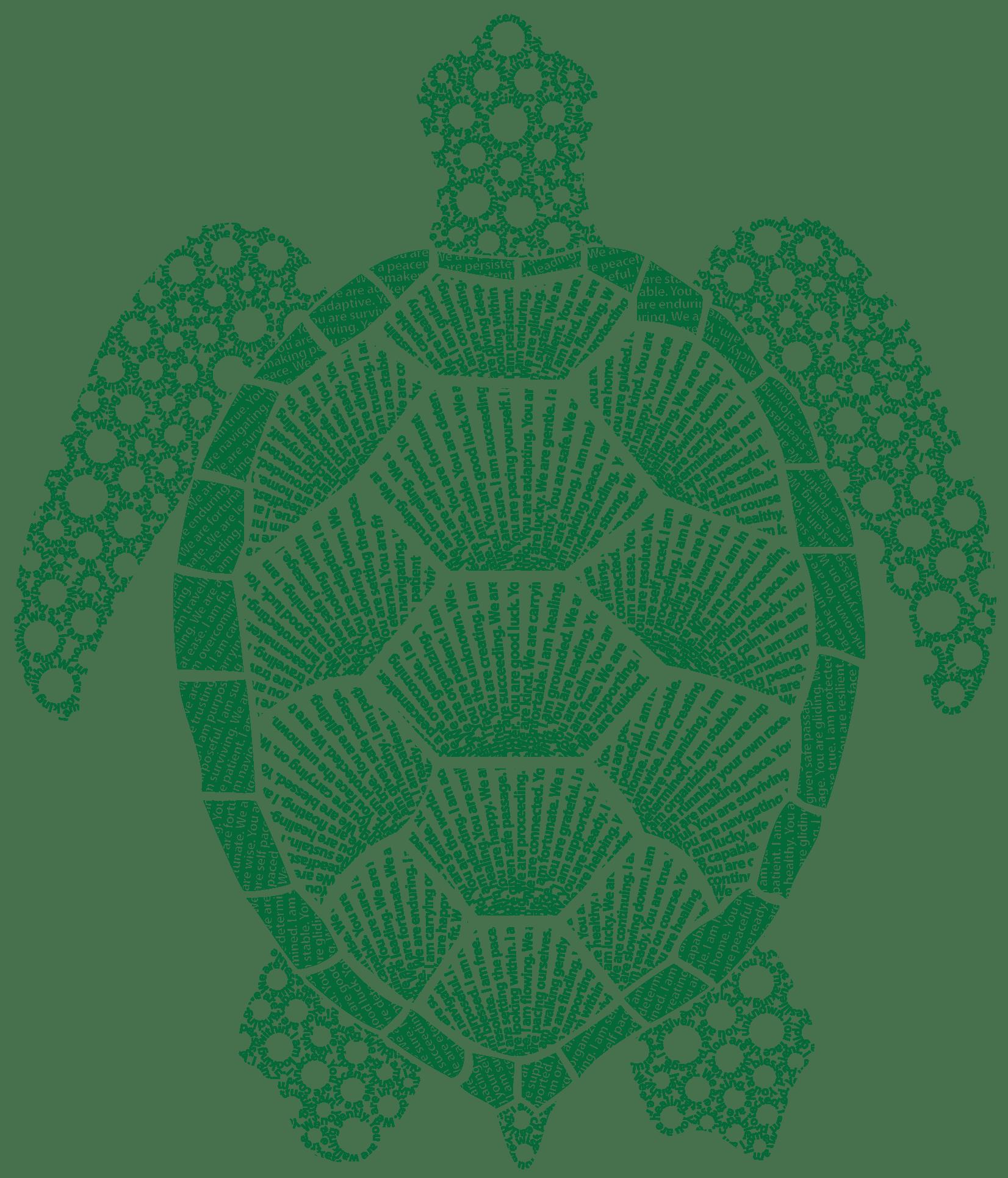 Sea turtle symbolism design made of turtle affirmations sea turtle design made of affirmations about its symbolism biocorpaavc Choice Image