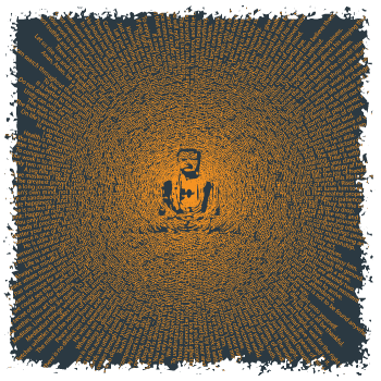 This Buddha blast is made entirely of quotations from Buddha by Think Positive Apparel