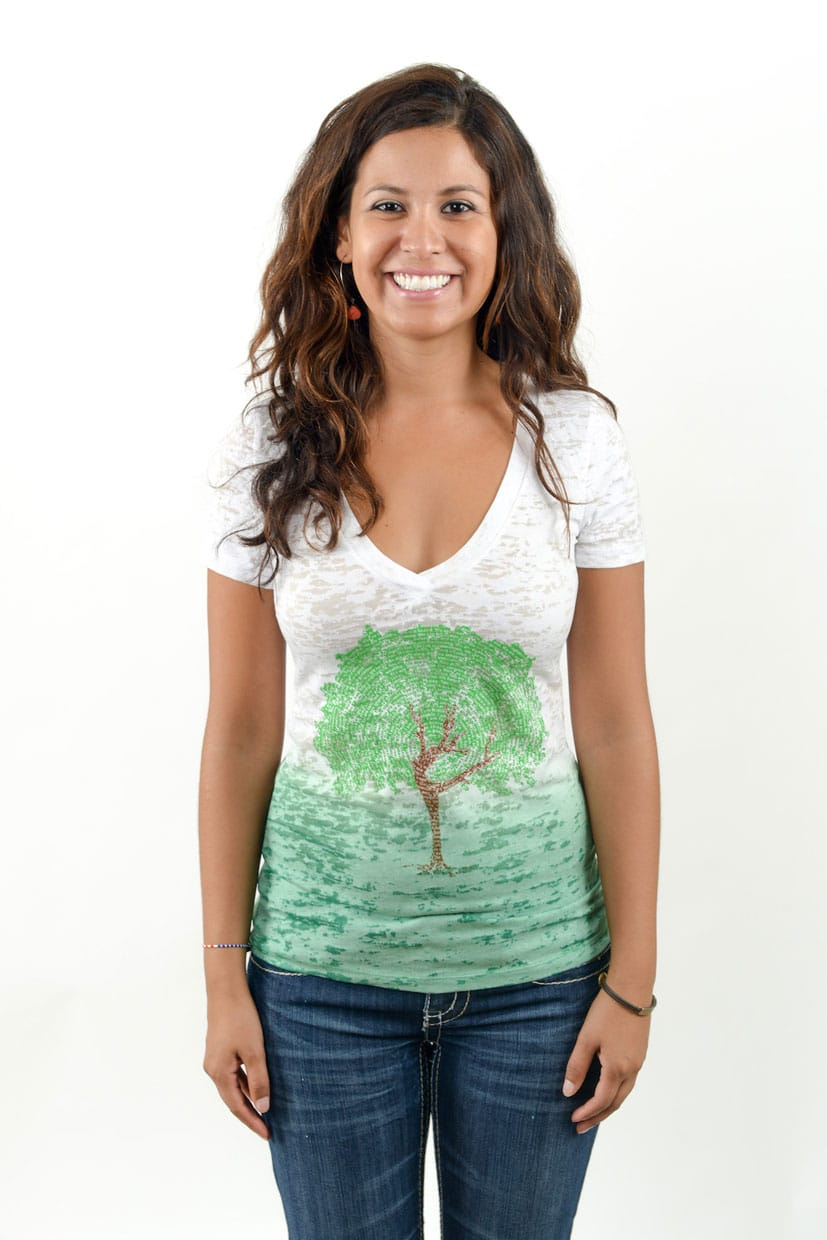 dancing_tree-ombre_burnout_v-neck_t-shirt_white_green-1-Think_Positive_Apparel-103